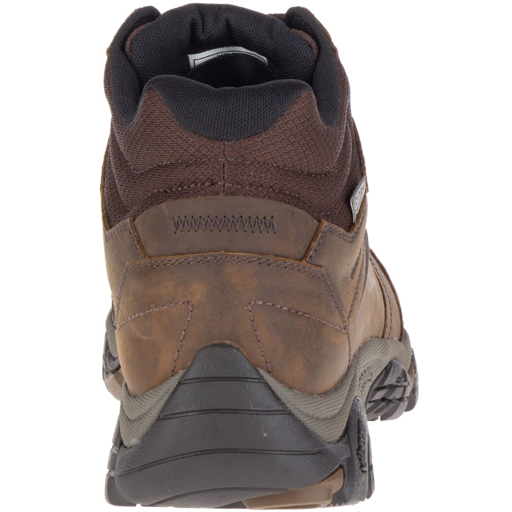 MERRELL Men's Moab Adventure Mid Waterproof Hiking Boots, Dark Earth, Wide - DARK EARTH