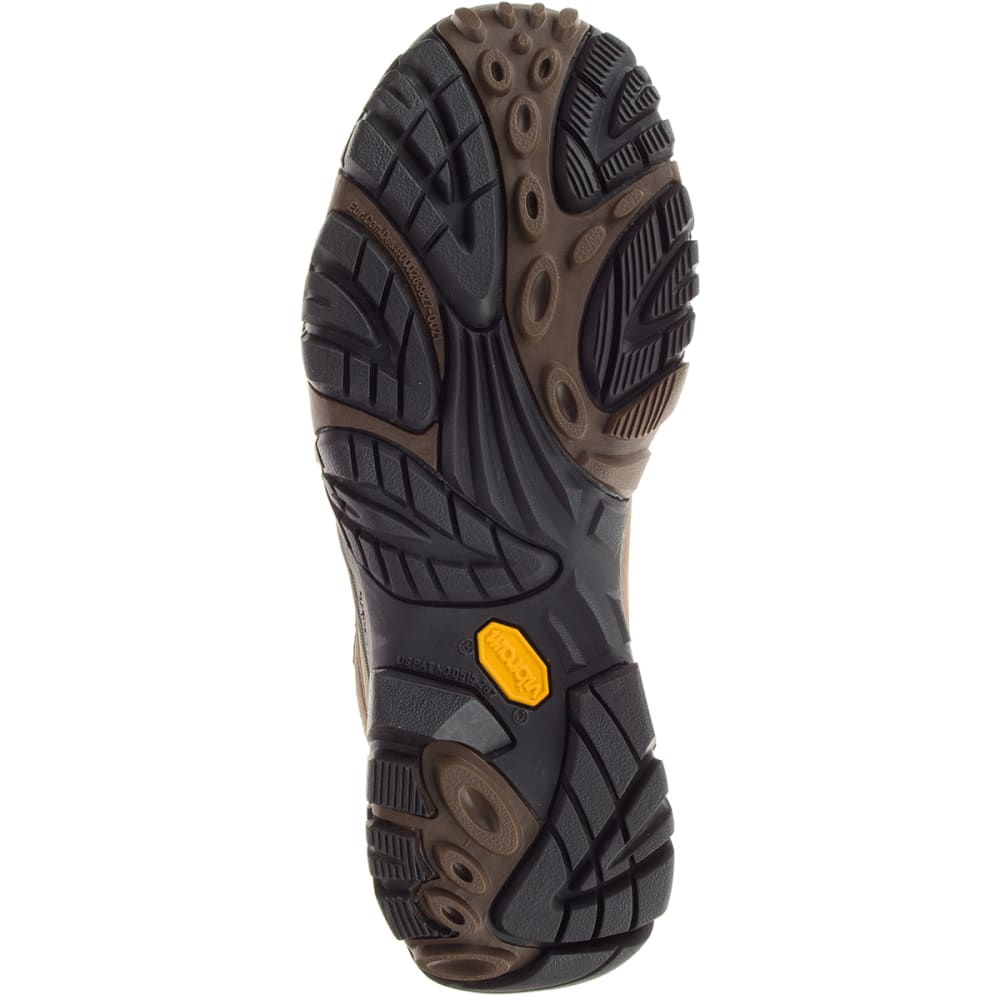 MERRELL Men's Moab Adventure Mid Waterproof Hiking Boots, Dark Earth, Wide - DARK EARTH