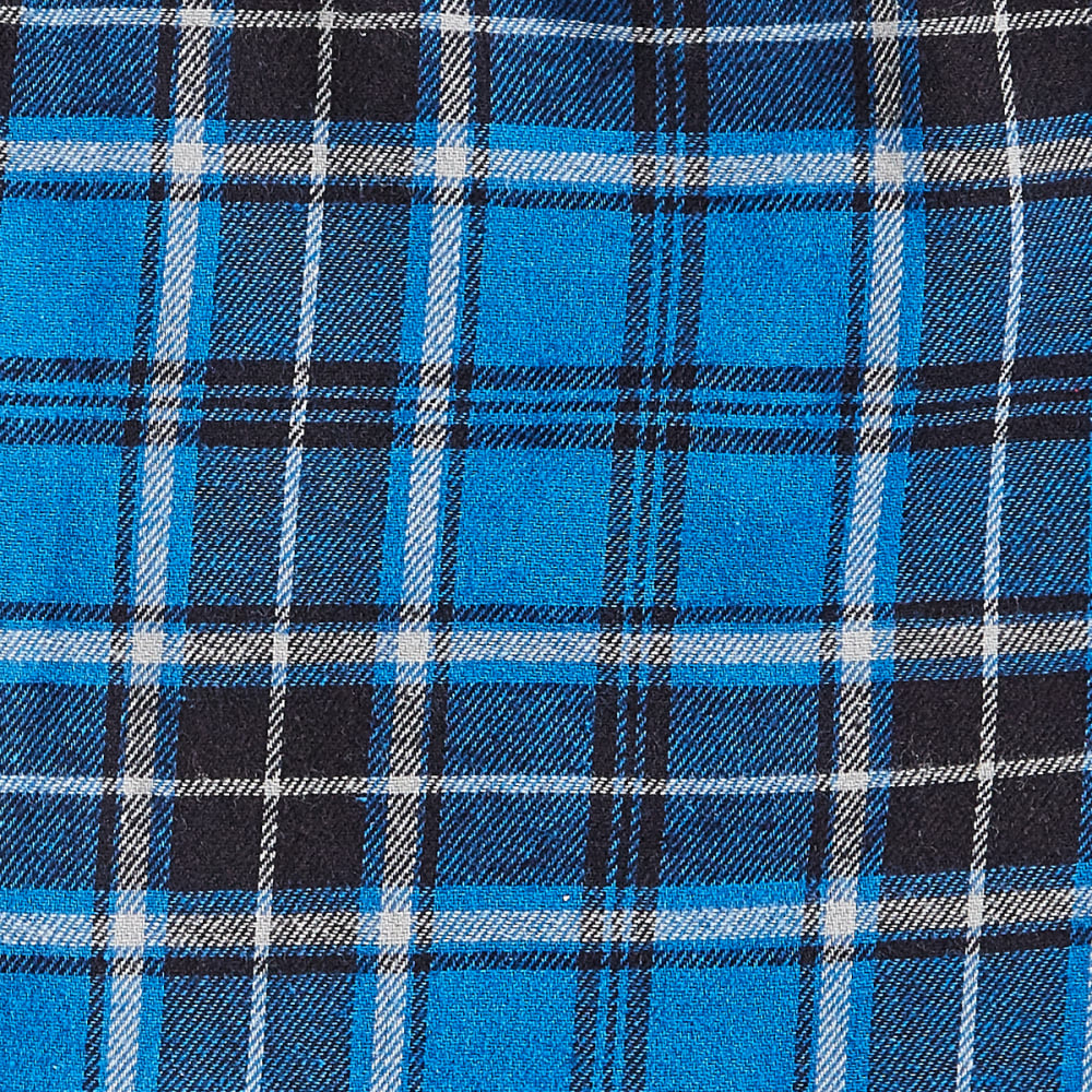 EMS® Flannel Pajama Pants - BLUE PLAID- 261-3