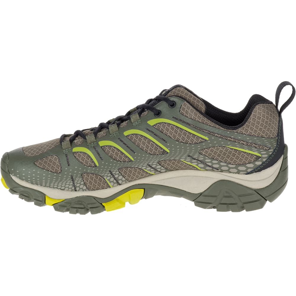 MERRELL Men's Moab Edge Hiking Shoes, Dusty Olive - DUSTY OLIVE