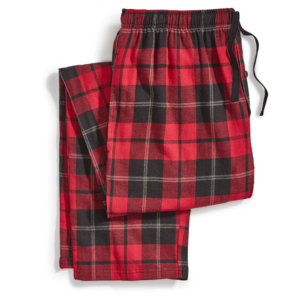 EMS Flannel Pajama Pants - 345-4 RED/BLK PLAID