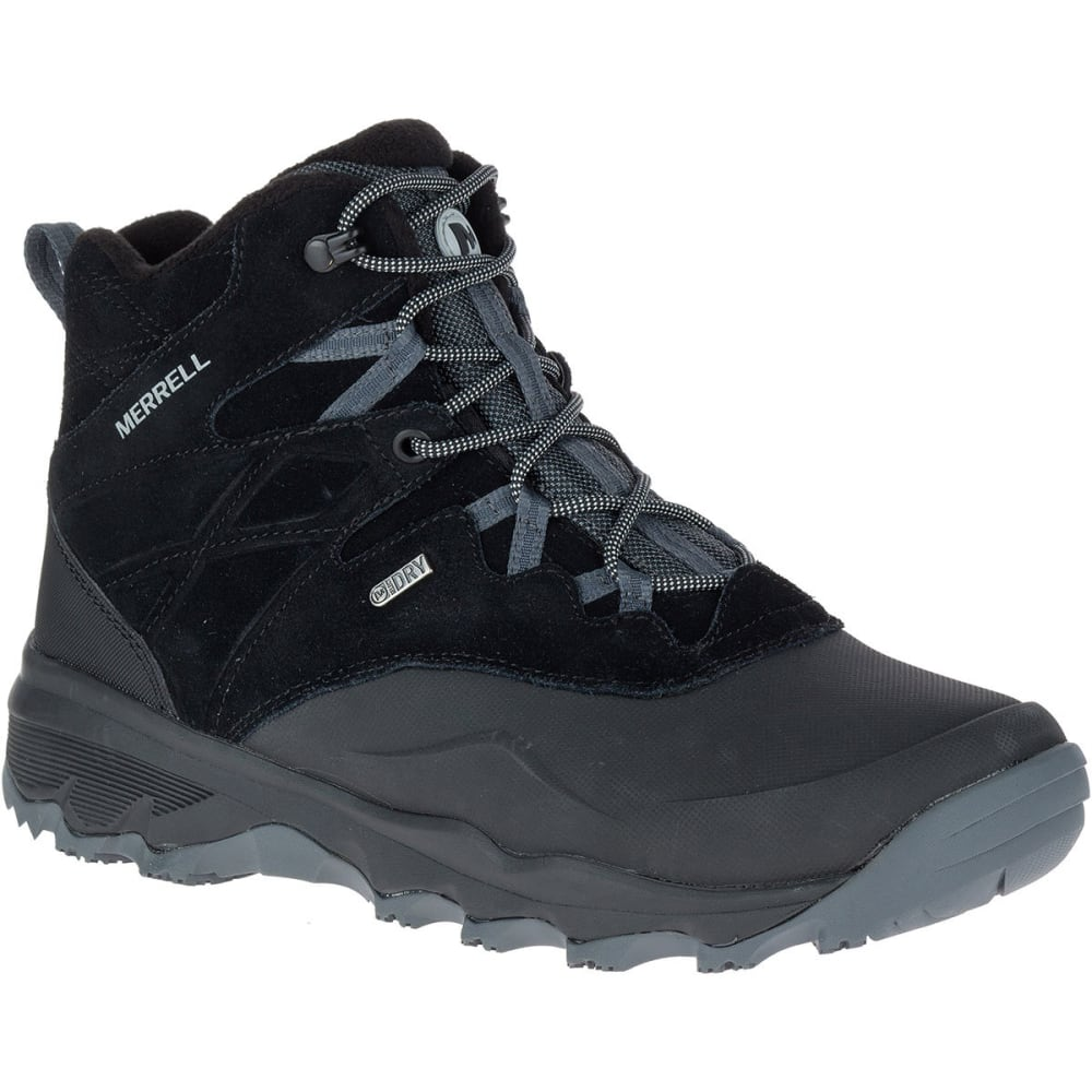 MERRELL Men's Thermo Shiver 6-Inch Waterproof Boots, Black - BLACK