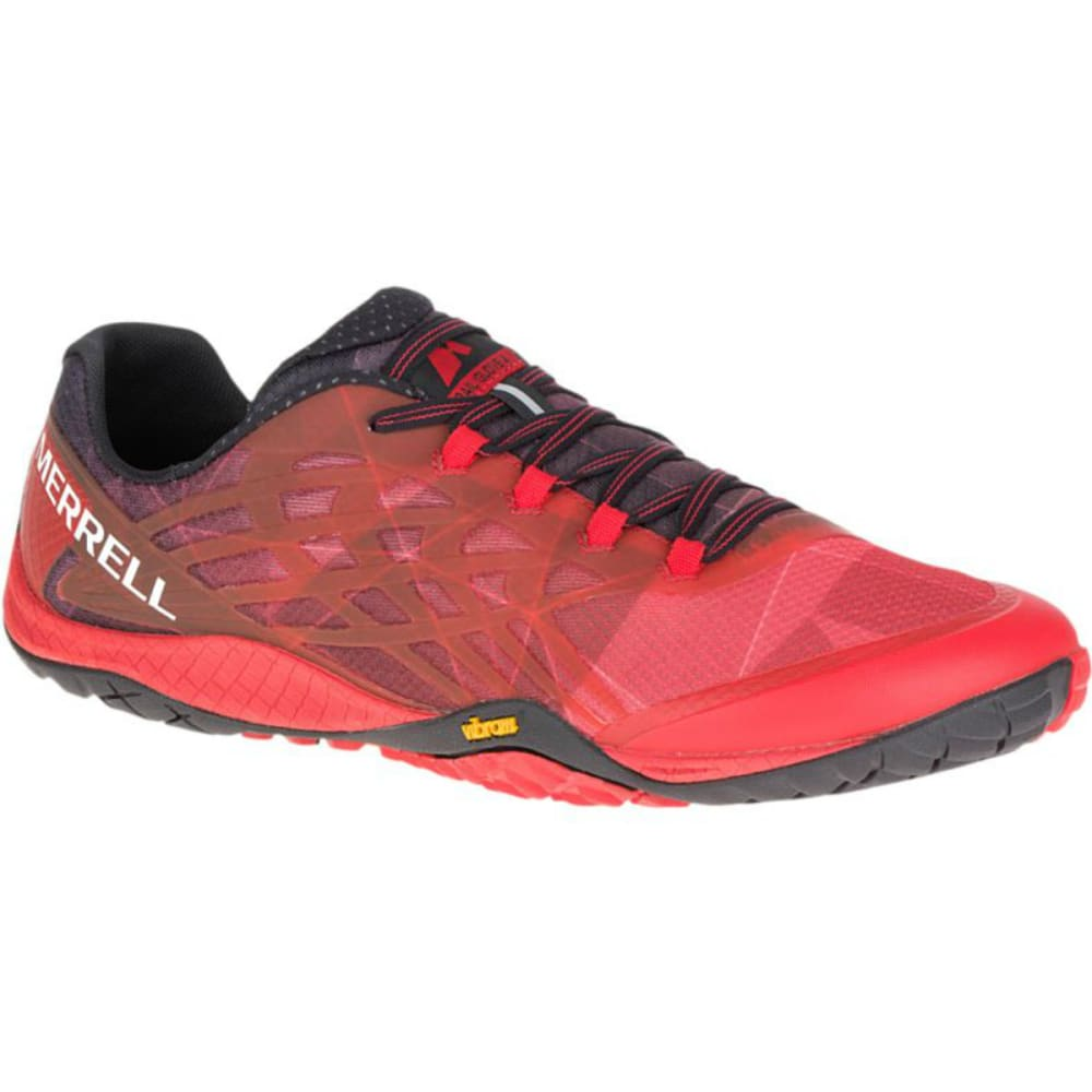 MERRELL Men's Trail Glove 4 Trail Running Shoes, Molten Lava - MOLTEN LAVA