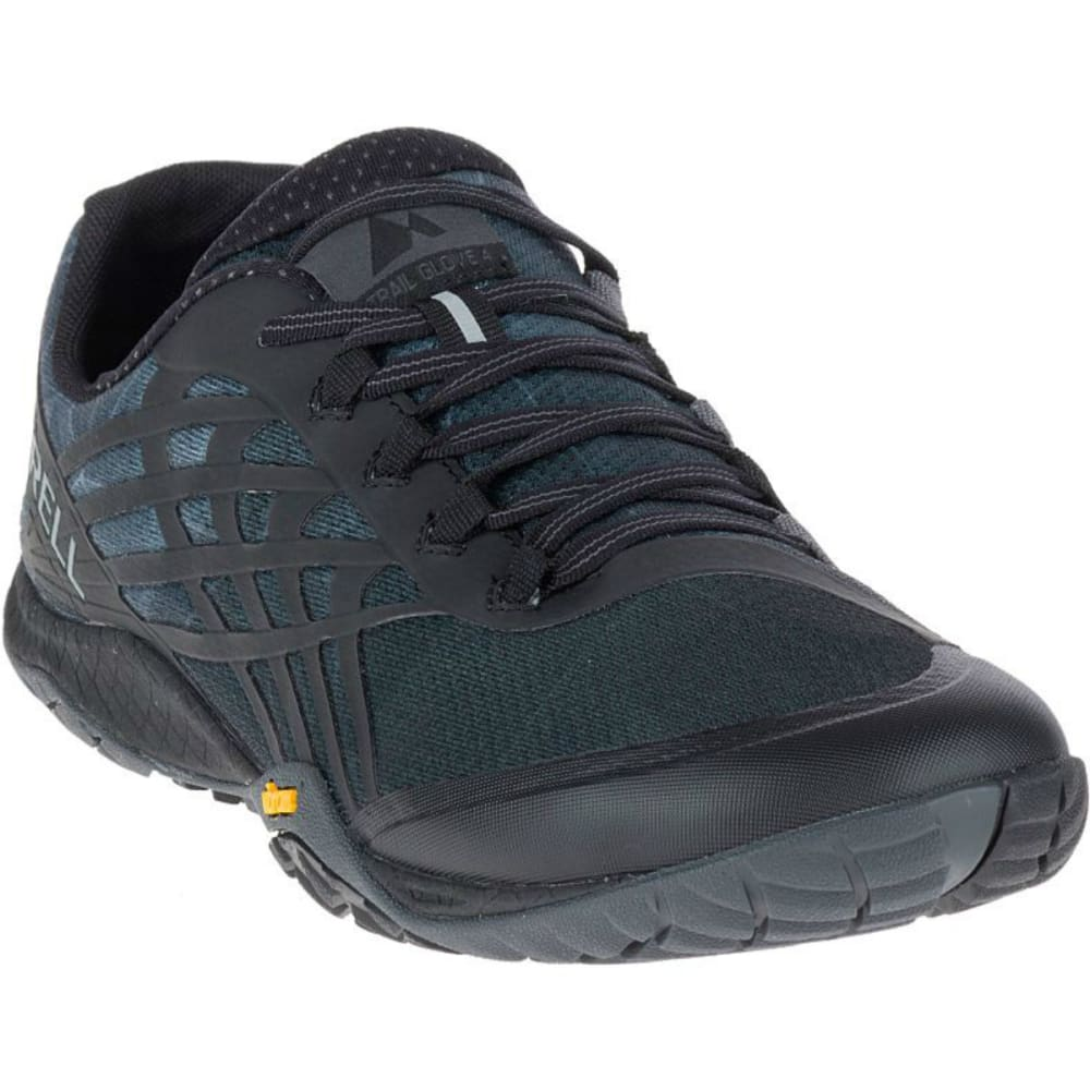 MERRELL Men's Trail Glove 4 Trail Running Shoes - BLACK
