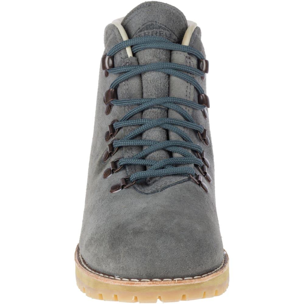 MERRELL Men's Wilderness USA Suede Boots, Steel Grey - STEEL GREY