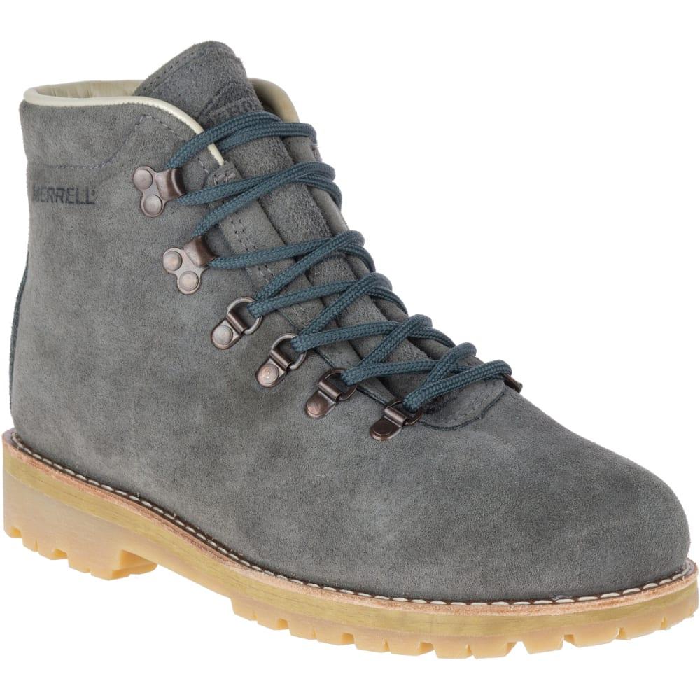 MERRELL Men's Wilderness USA Suede Boots, Steel Grey