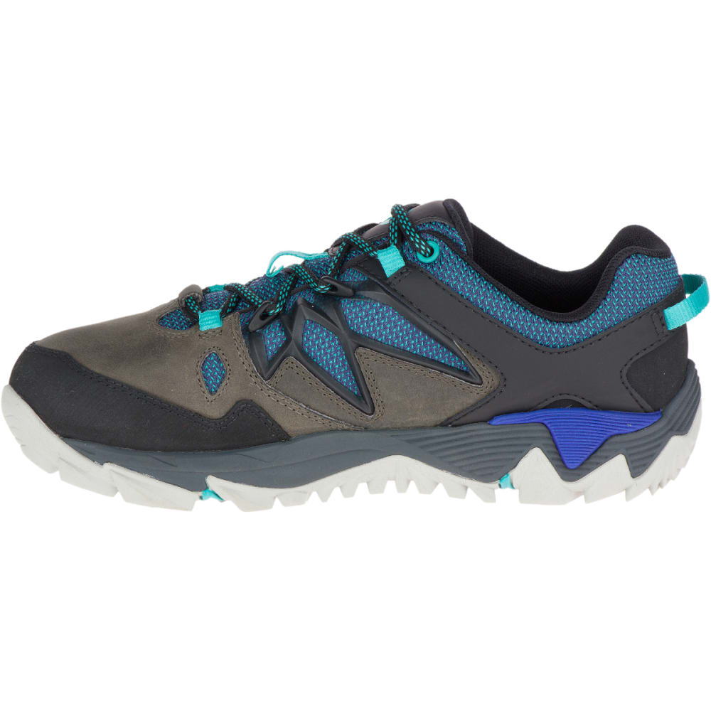 MERRELL Women's All Out Blaze 2 Hiking Shoes, Pewter/Mazarine Blue - PEWTER/BLUE