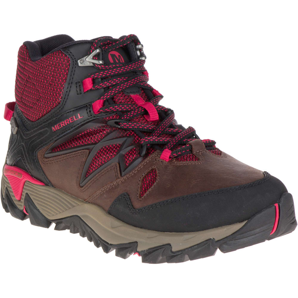 MERRELL Women's All Out Blaze 2 Mid Waterproof Hiking Boots, Cinnamon - CINNAMON