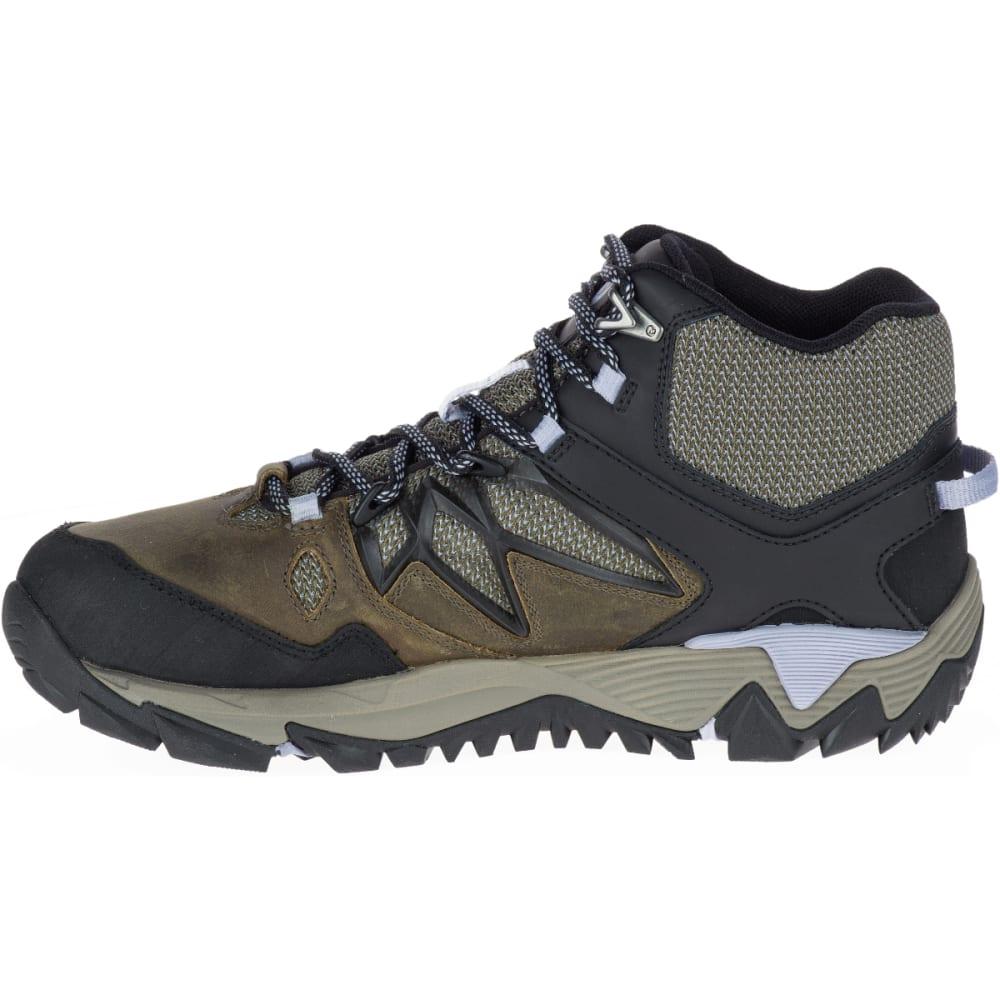 MERRELL Women's All Out Blaze 2 Mid Waterproof Hiking Boots, Dark Olive - DARK OLIVE