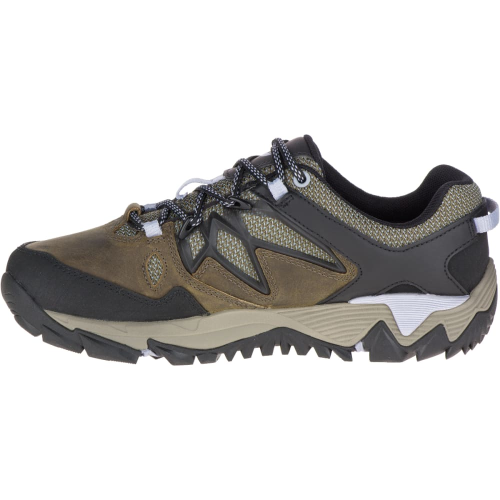 MERRELL Women's All Out Blaze 2 Waterproof Hiking Shoes, Dark Olive - DARK OLIVE