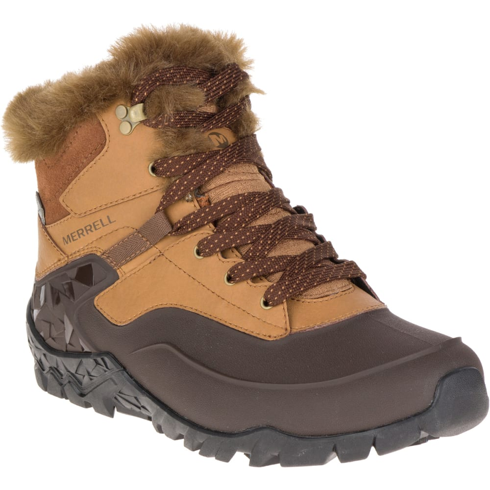 MERRELL Women's Aurora 6 Ice+ Waterproof Winter Boots, Merrell Tan - MERRELL TAN