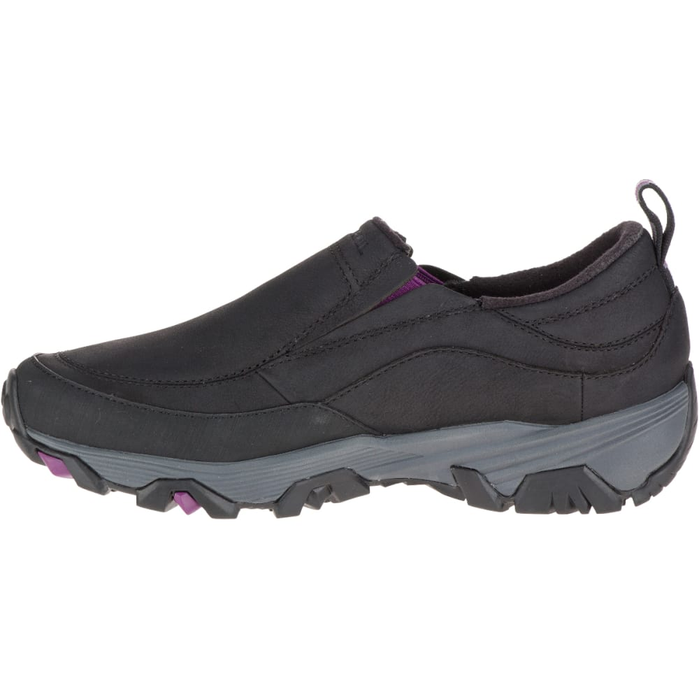 MERRELL Women's ColdPack Ice+ Moc Waterproof Shoes, Black - BLACK
