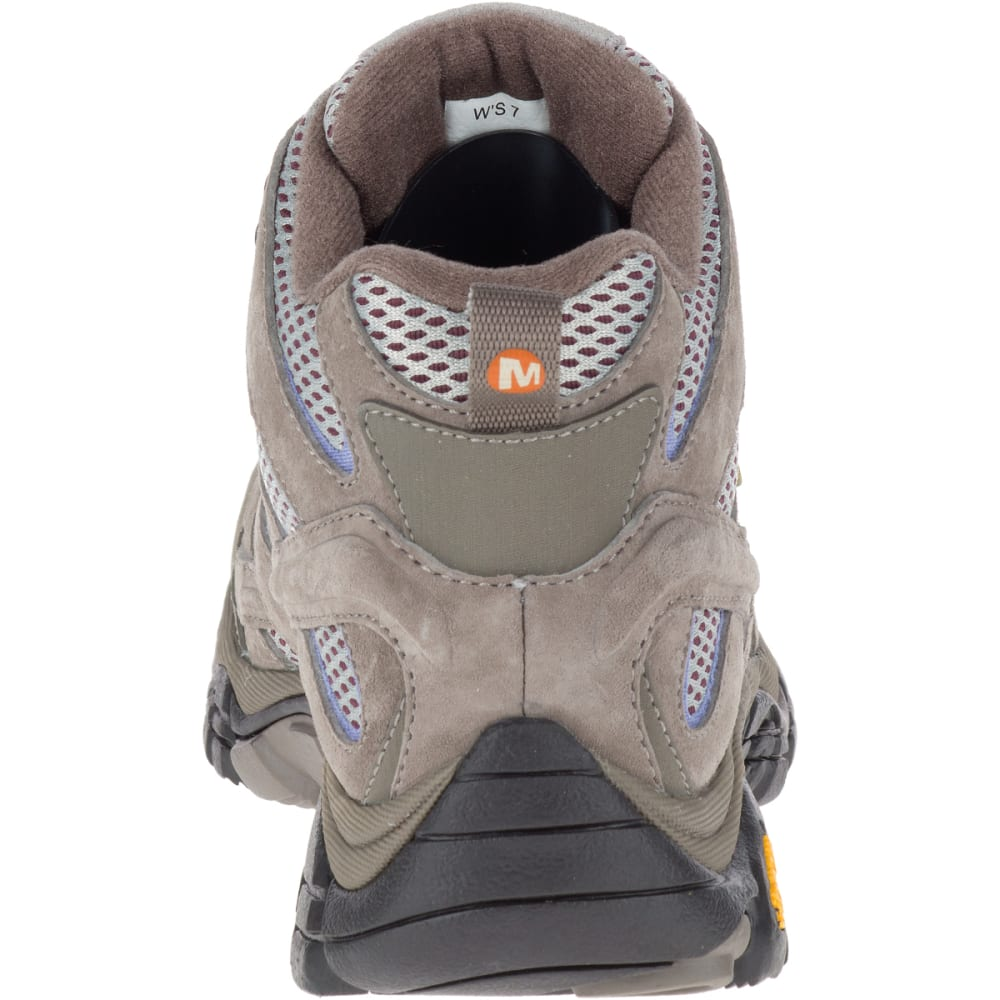MERRELL Women's Moab 2 Mid Waterproof Hiking Boots, Falcon - FALCON