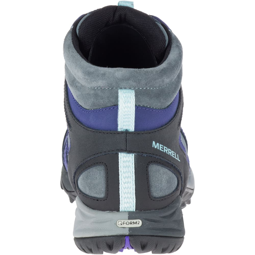 MERRELL Women's Siren Q2 Mid Waterproof Hiking Boots, Turbulence - TURBULENCE