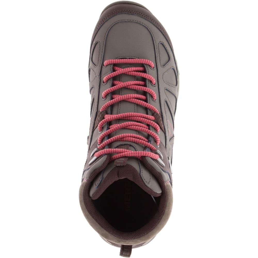 MERRELL Women's Siren Q2 Mid Waterproof Hiking Boots, Boulder - BOULDER