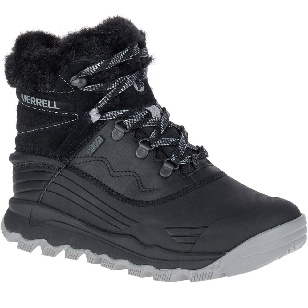 MERRELL Women's Thermo Vortex 6-Inch Waterproof Boots, Black - BLACK