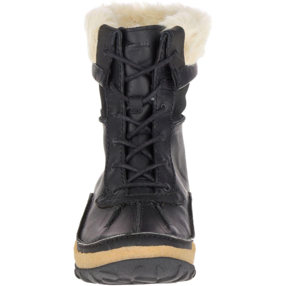 MERRELL Women's Tremblant Mid Polar Waterproof Winter Boots, Black - BLACK