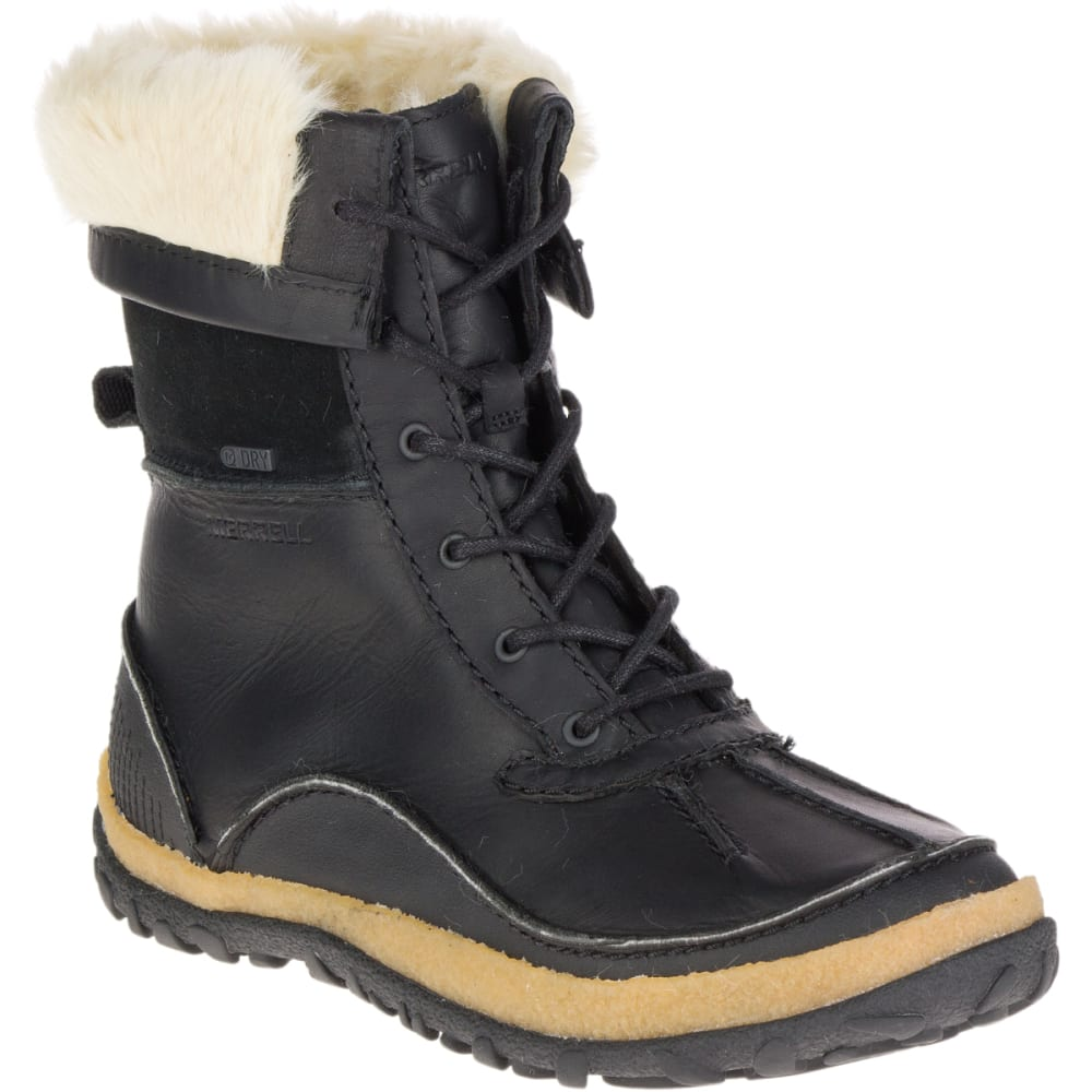 MERRELL Women's Tremblant Mid Polar Waterproof Winter Boots, Black - BLACK