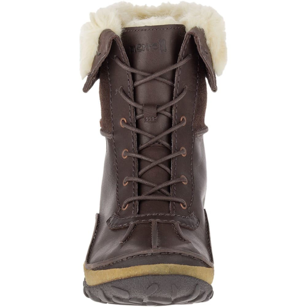 MERRELL Women's Tremblant Mid Polar Waterproof Boots, Espresso - ESPRESSO