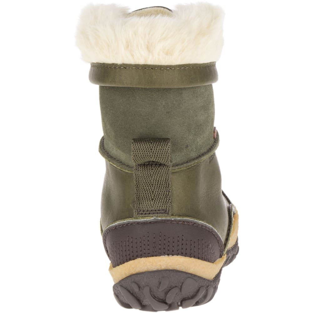 MERRELL Women's Tremblant Mid Polar Waterproof Winter Boots, Dusty Olive - DUSTY OLIVE