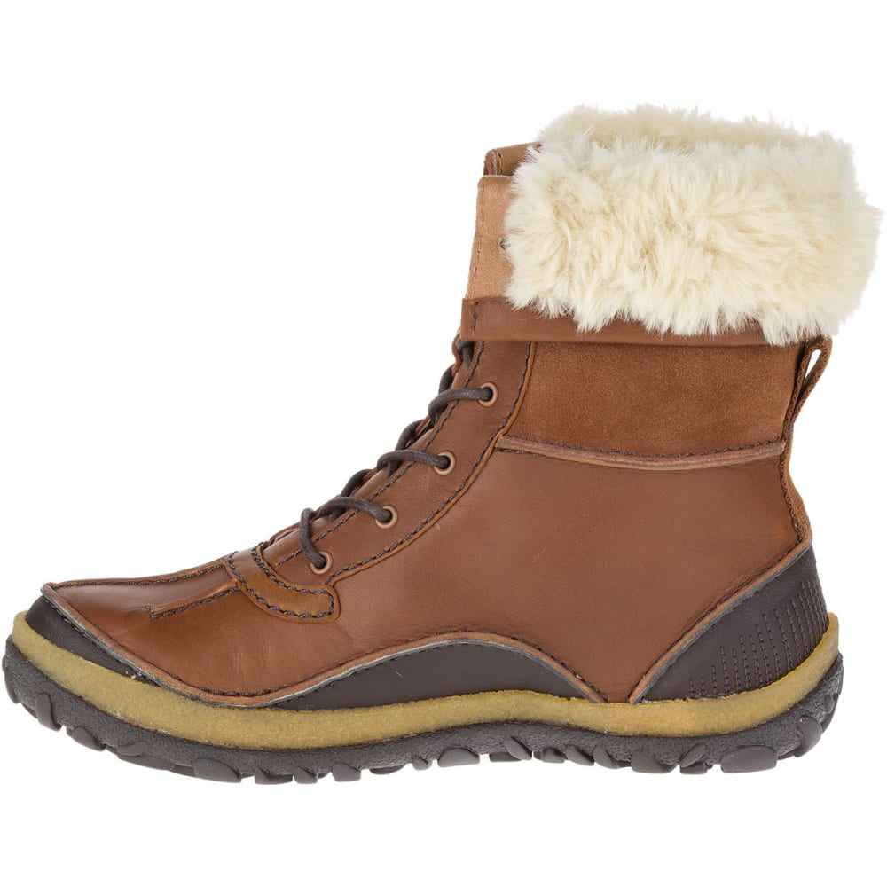MERRELL Women's Tremblant Mid Polar Waterproof Boots, Oak - MERRELL OAK