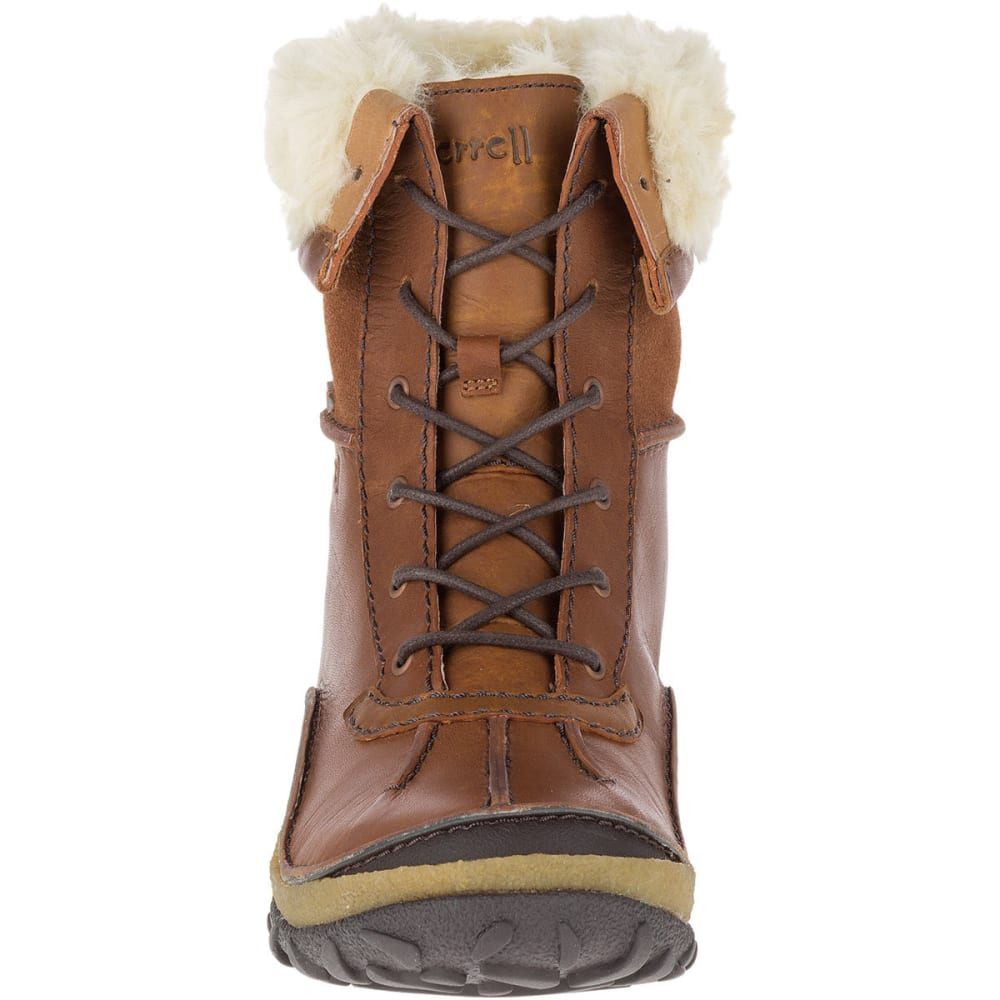 19f3b61d55d MERRELL Women's Tremblant Mid Polar Waterproof Boots, Oak - MERRELL OAK