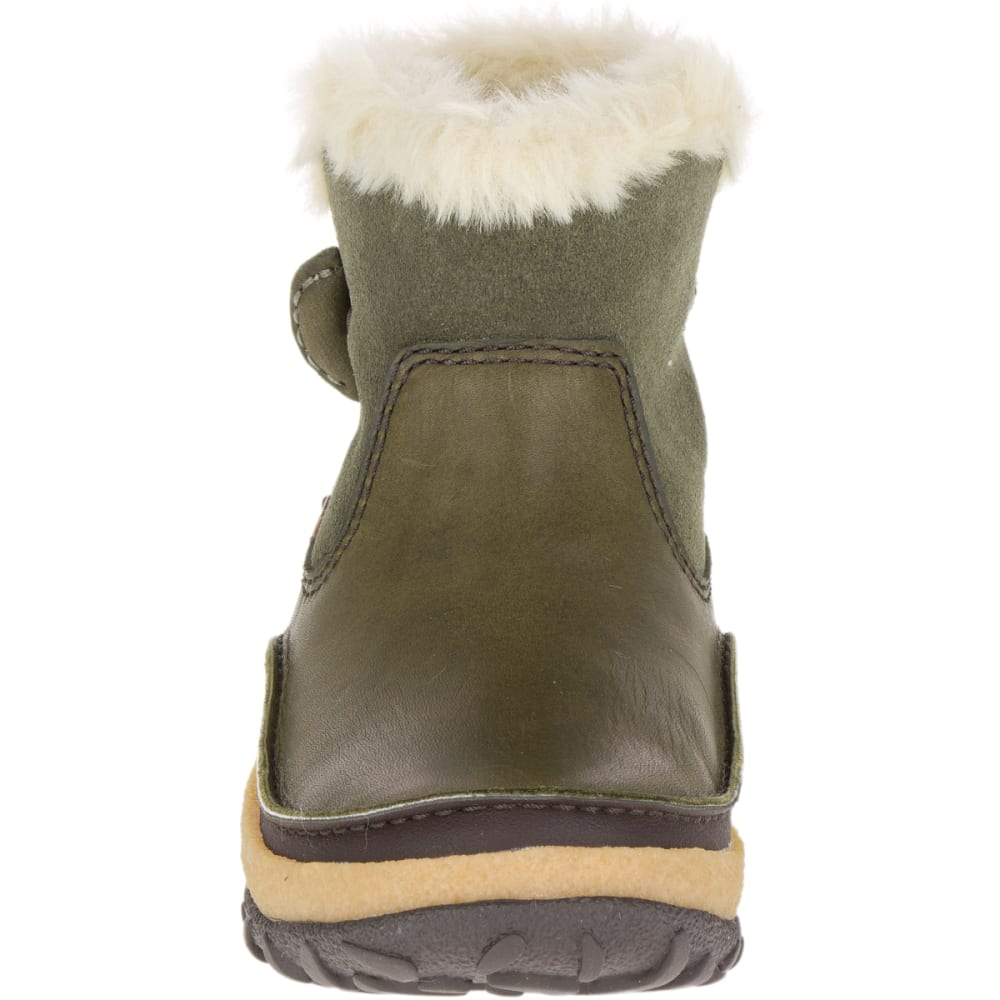 MERRELL Women's Tremblant Pull-On Polar Waterproof Boots, Dusty Olive - DUSTY OLIVE
