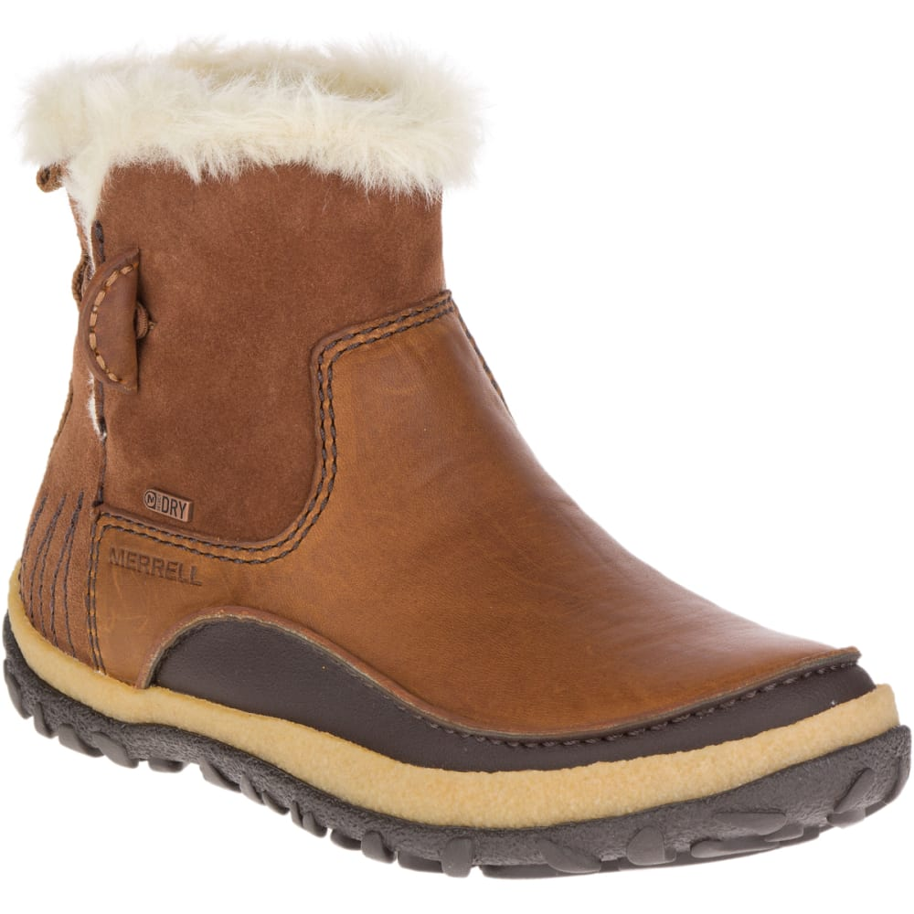 MERRELL Women's Tremblant Pull-On Polar Waterproof Boots, Oak - MERRELL OAK