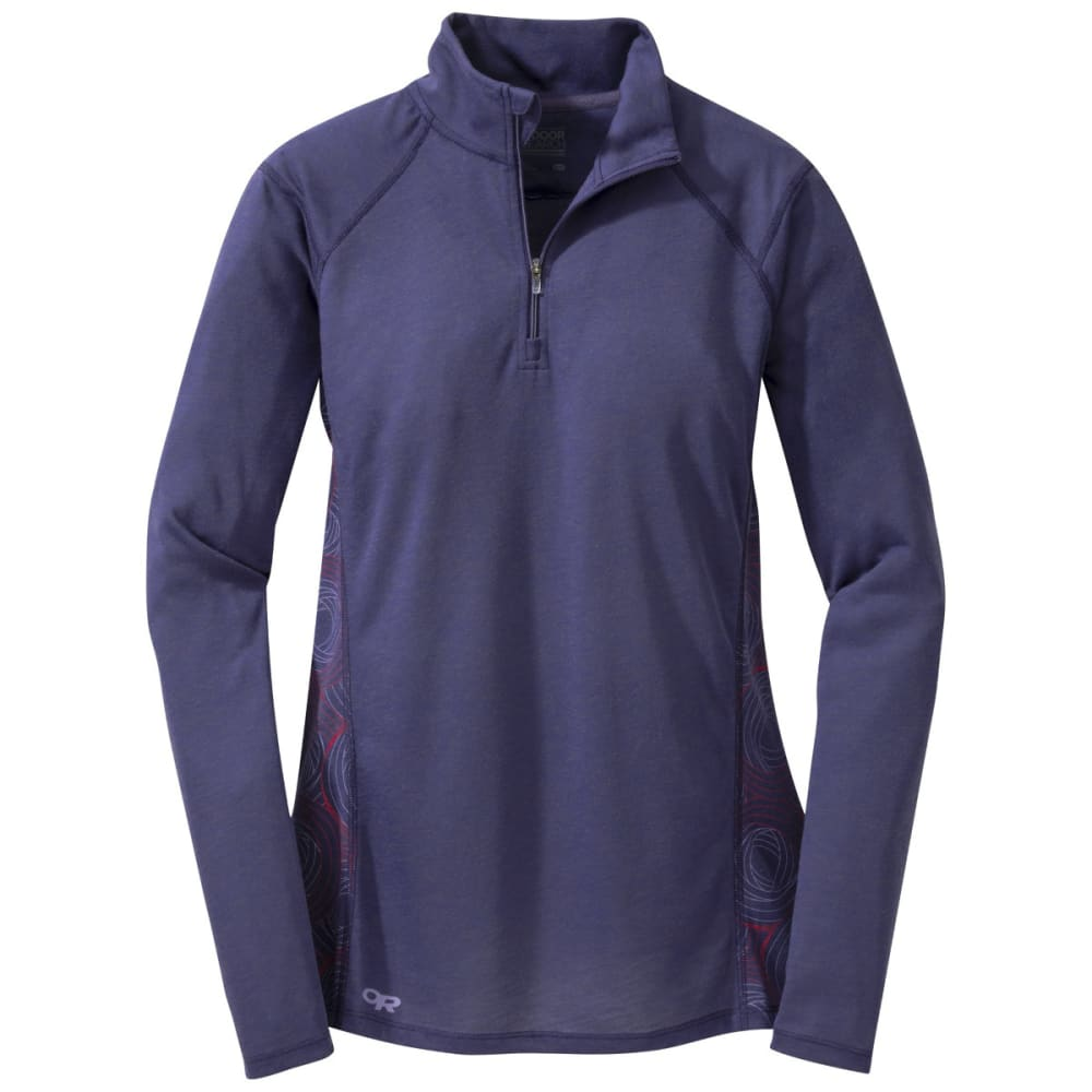 OUTDOOR RESEARCH Women's Essence Long Sleeve Zip Top - BLUE VIOLET/FIG
