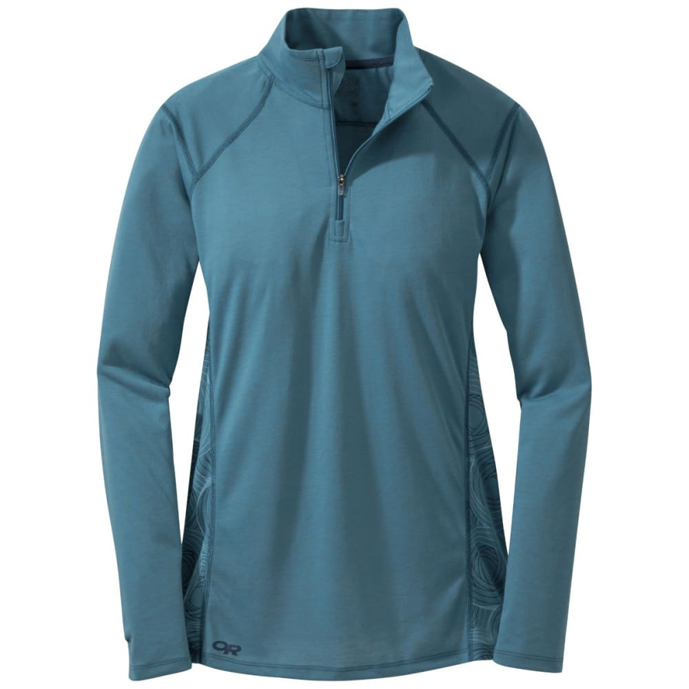 OUTDOOR RESEARCH Women's Essence Long Sleeve Zip Top - OASIS/NIGHT