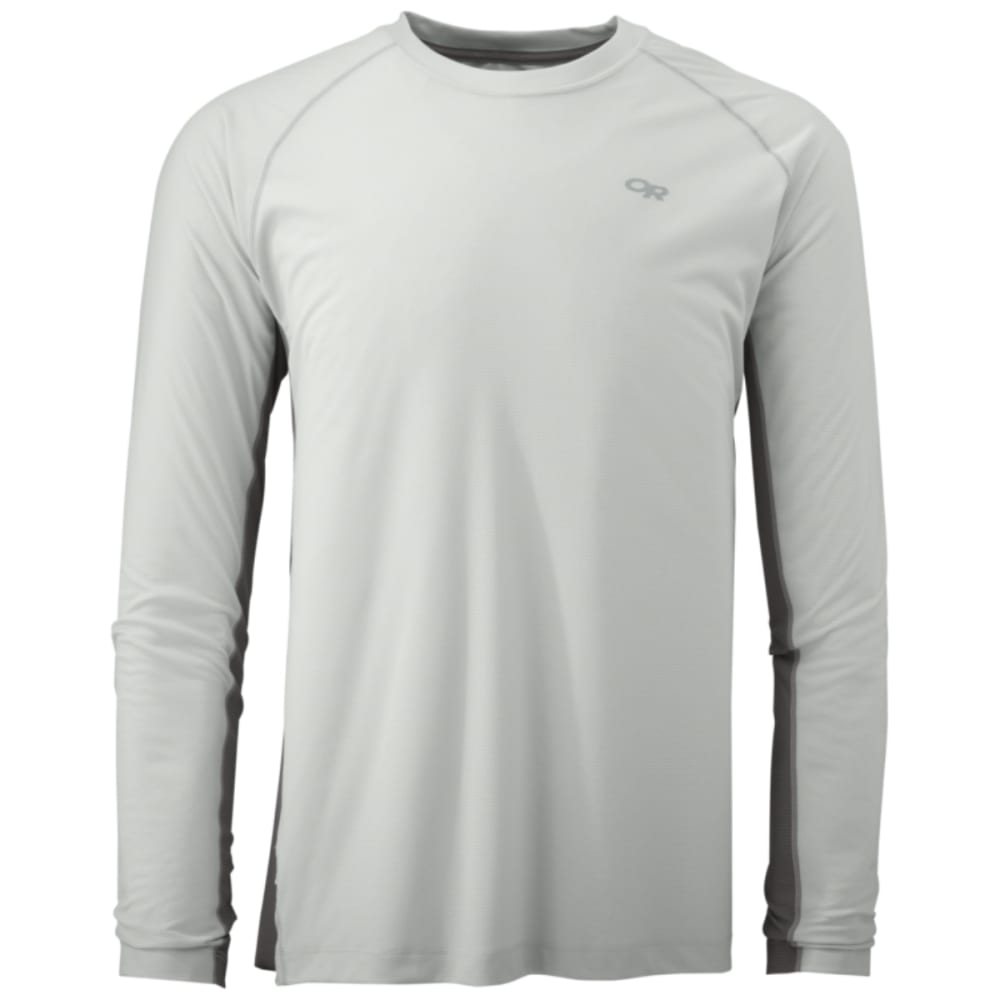 OUTDOOR RESEARCH Men's Echo Long Sleeve Duo Tee - ALLOY/PEWTER