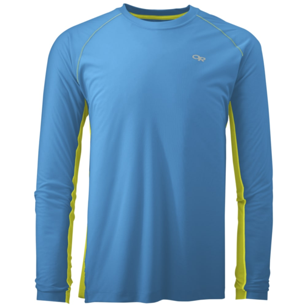 OUTDOOR RESEARCH Men's Echo Long Sleeve Duo Tee - TAHOE/JOLT