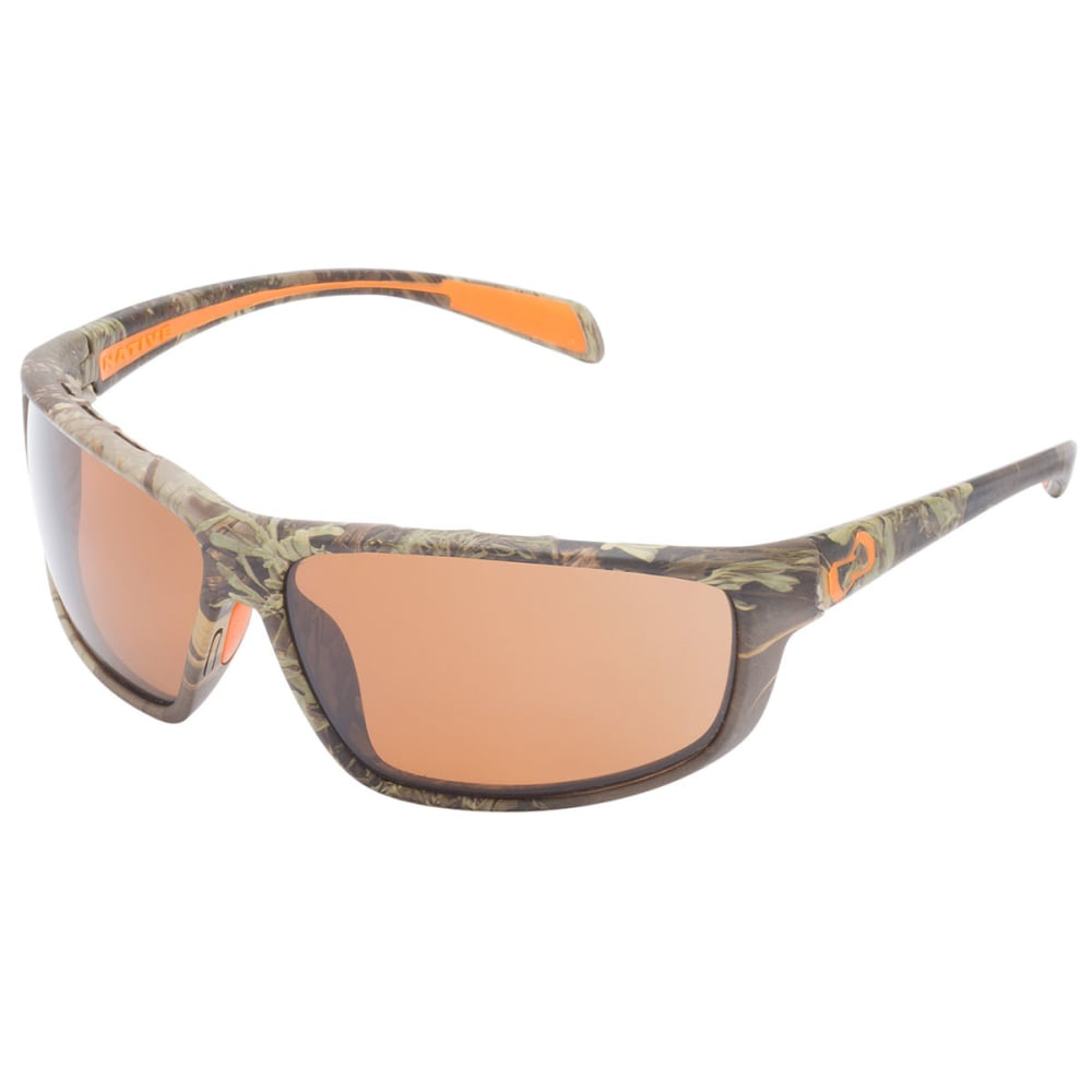 NATIVE EYEWEAR Bigfork Sunglasses, Realtree MAX Camo/Brown - CAMO MAX1