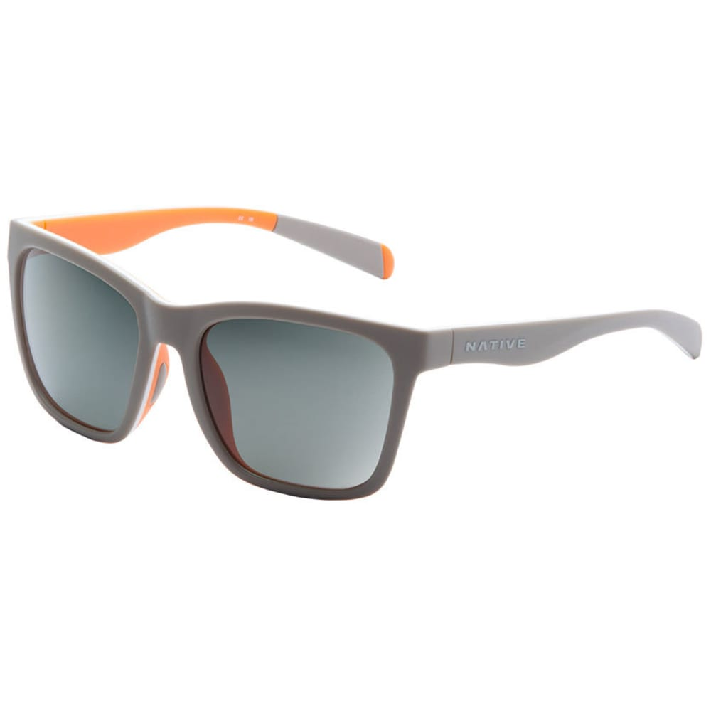 NATIVE EYEWEAR Braiden Sunglasses Matte Gray/White/Peach, Gray - GRAY/WHITE/PEACH