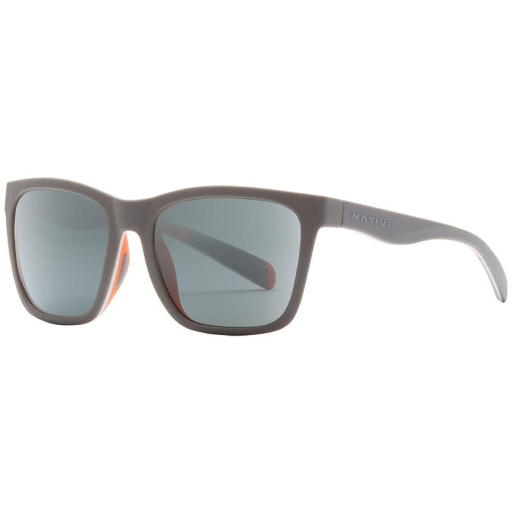 NATIVE EYEWEAR Braiden Sunglasses Matte Gray/White/Peach, Gray ONE SIZE