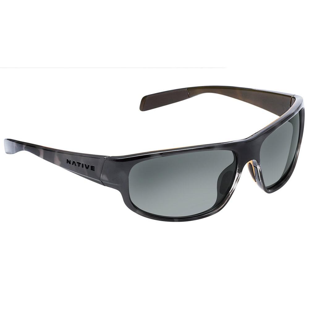 NATIVE EYEWEAR Crestone Sunglasses Obsidian /Dark Gray/Light Gray, Gray - OBSIDIAN/GRAY