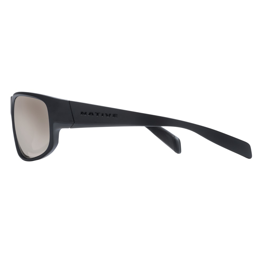 NATIVE EYEWEAR Crestone Polarized Sunglasses - BLACK/GRAY/BLACK