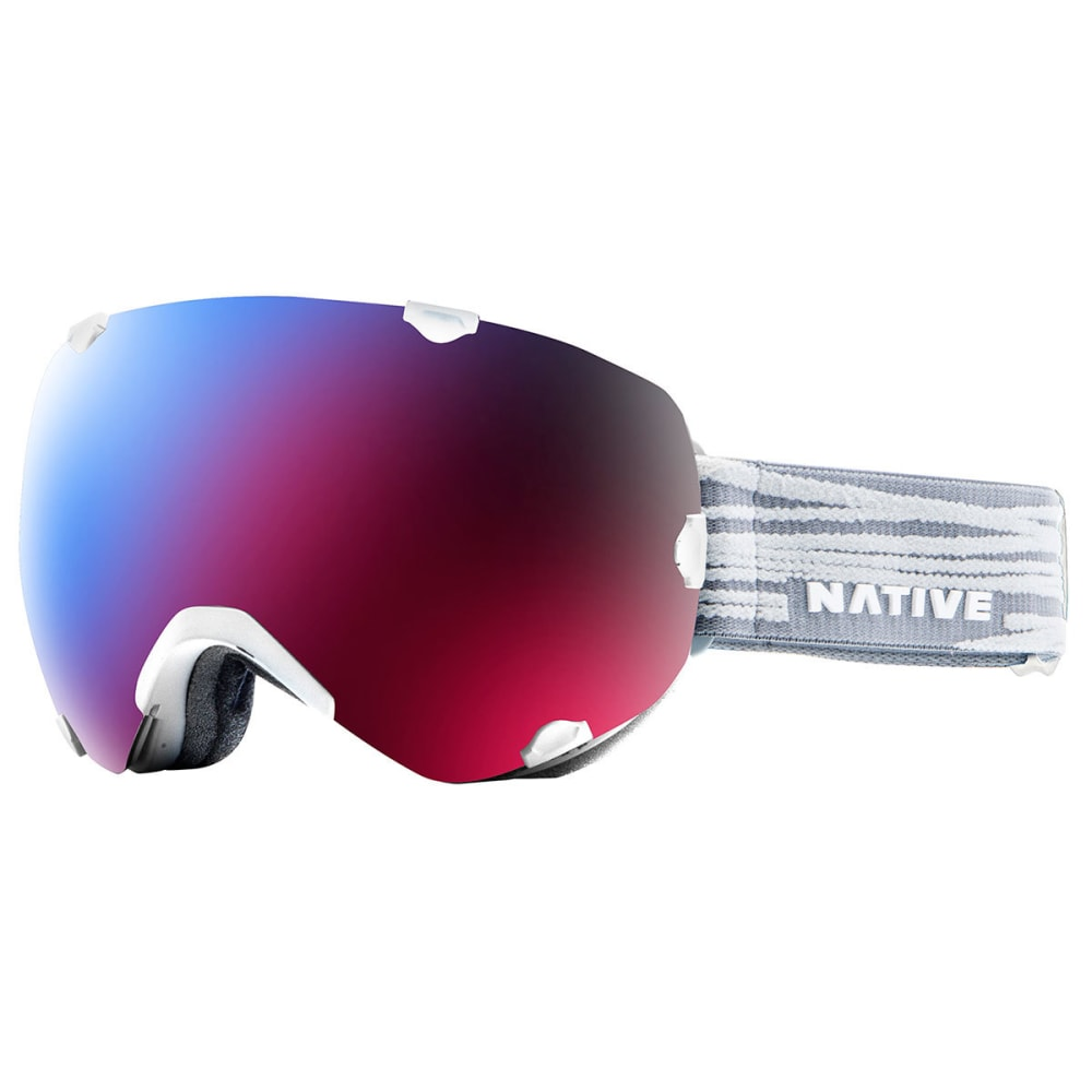 NATIVE EYEWEAR Spindrift Goggles, Gray Lines/SnowTuned Rose Blue - GRAY LINES