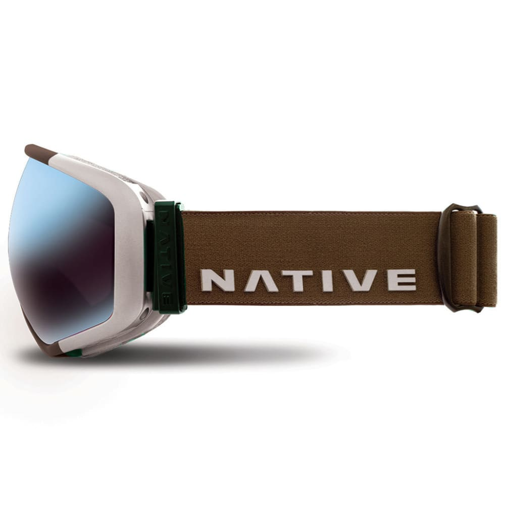 NATIVE EYEWEAR Tank7 Goggles, Aluminum/SnowTuned Rose Blue - ALUMINUM