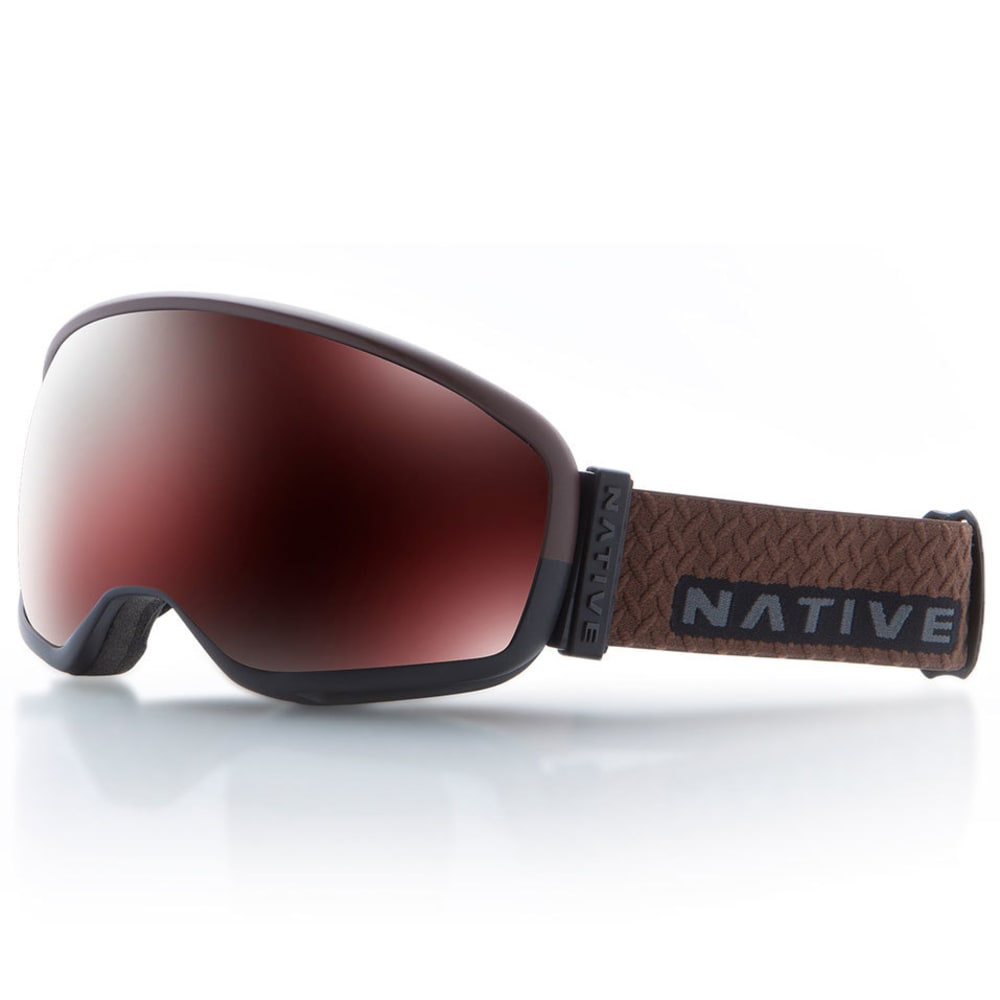 NATIVE EYEWEAR Tank7 Goggles, Kickplate/SnowTuned Silver - KICKPLATE