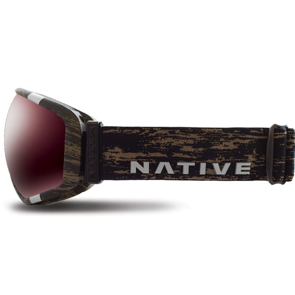 NATIVE EYEWEAR Tank7 Goggles, Jackplane/SnowTuned Silver - JACKPLANE