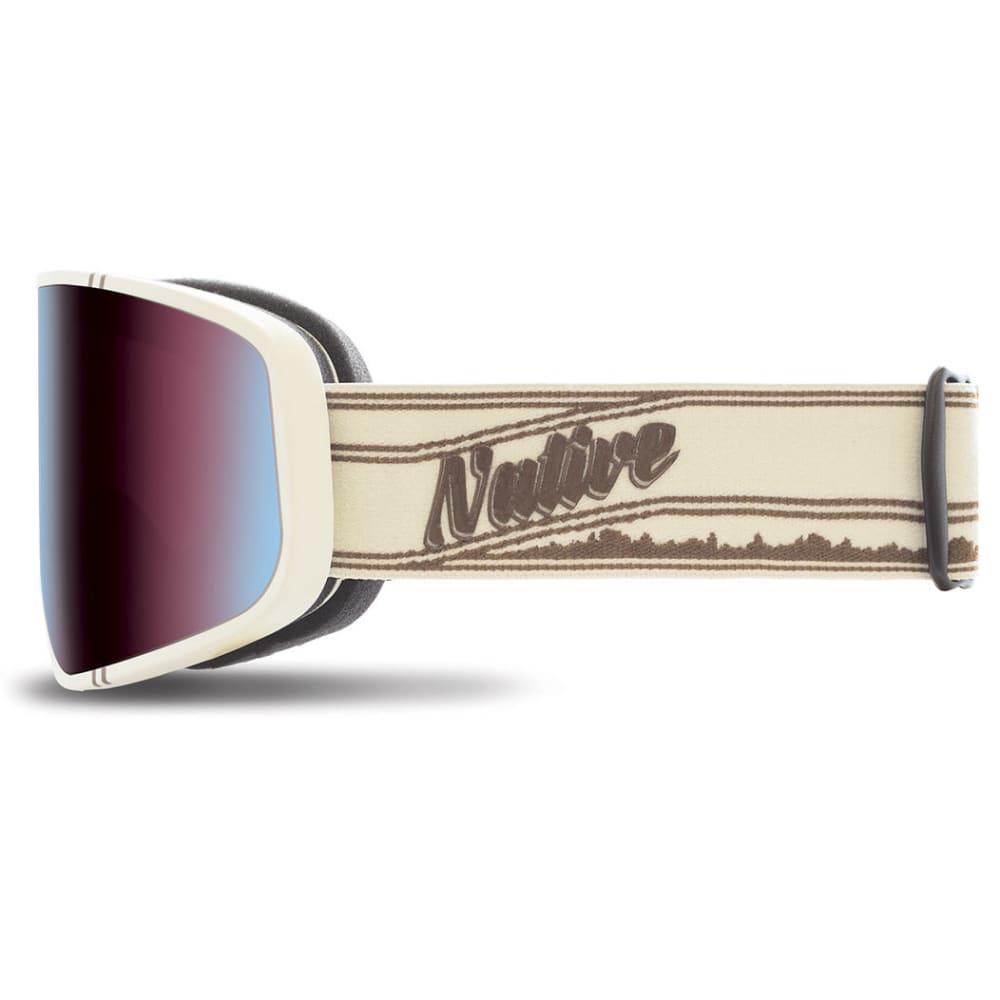 NATIVE EYEWEAR Tenmile Goggles, Pinstripe/Blue Mirror - PINSTRIPE