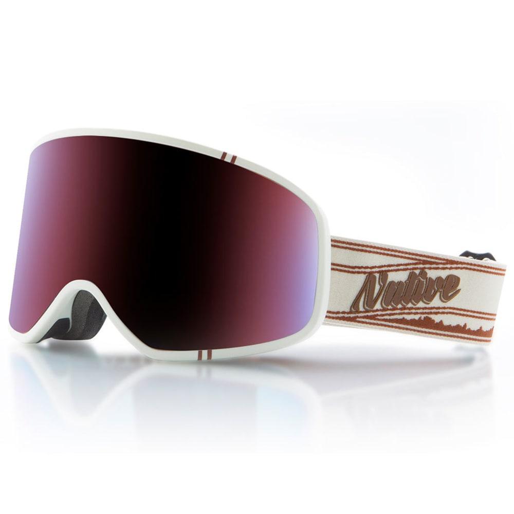 NATIVE EYEWEAR Tenmile Goggles, Pinstripe/Blue Mirror ONE SIZE