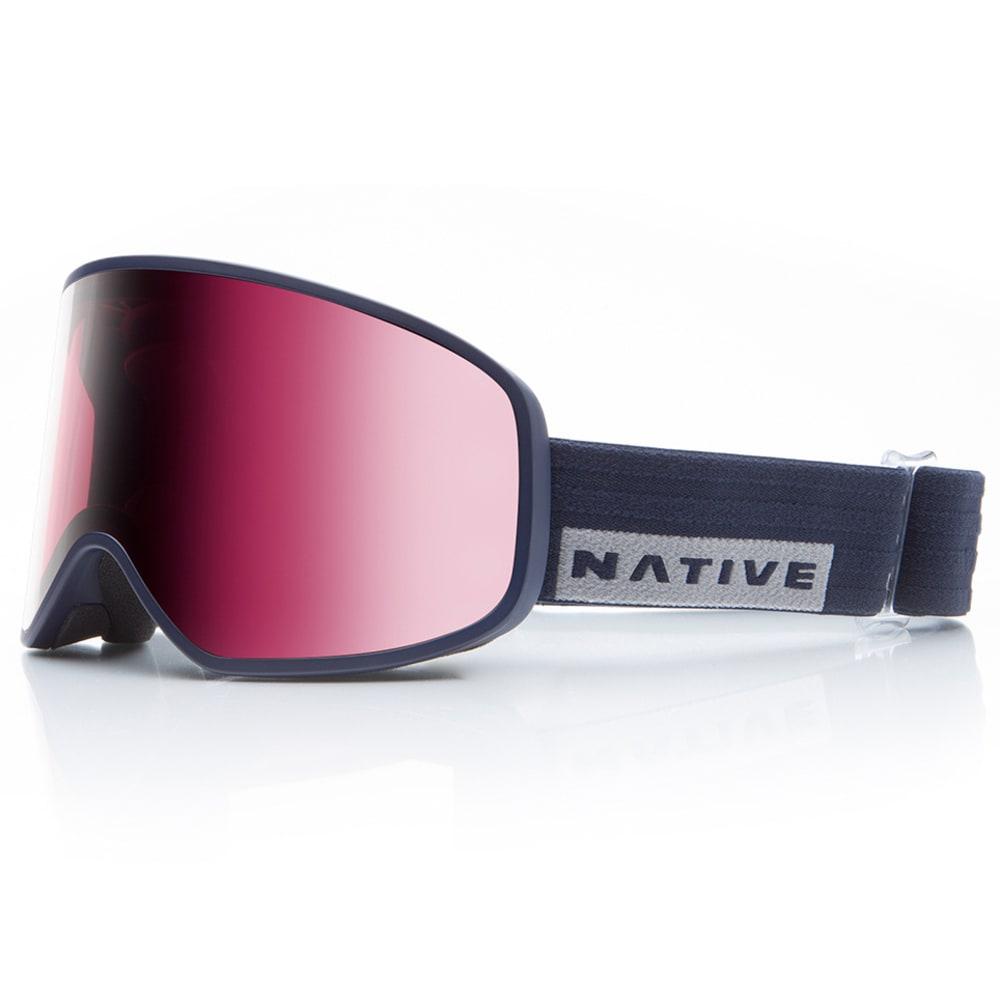 NATIVE EYEWEAR Tenmile Goggles, Ribbet, Rose Lens - RIBBERT