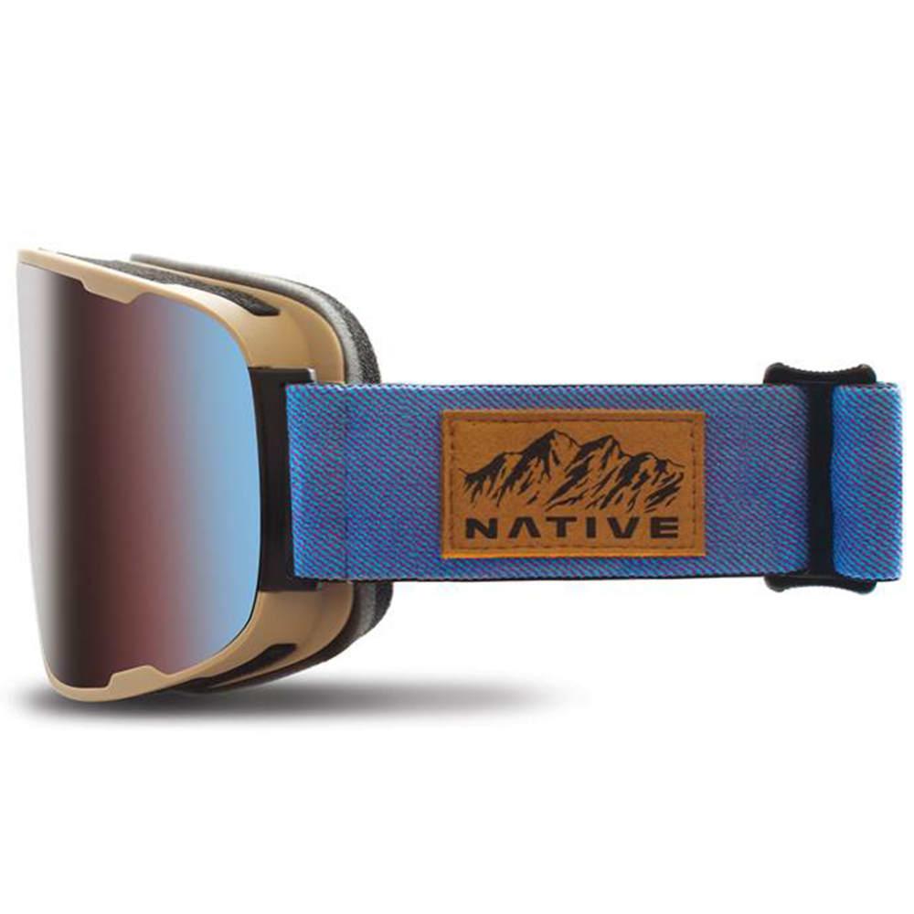 NATIVE EYEWEAR Treeline goggles, Rider, Blue Mirror Lens - RIDER