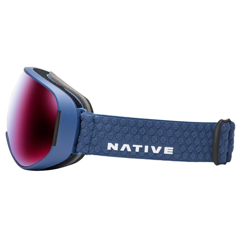 NATIVE EYEWEAR DropZone Goggles, Blue Denim/SnowTuned Rose Blue - BLUE DENIM