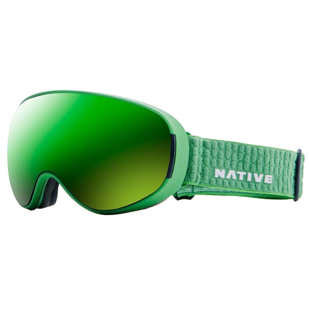 NATIVE EYEWEAR DropZone Snow Goggles, Sweetgrass/SnowTuned Amber Green - SWEETGRASS
