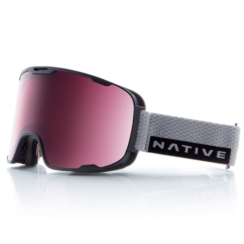 NATIVE EYEWEAR Treeline Goggles, Gray Rip/SnowTuned React Rose - GRAY RIP