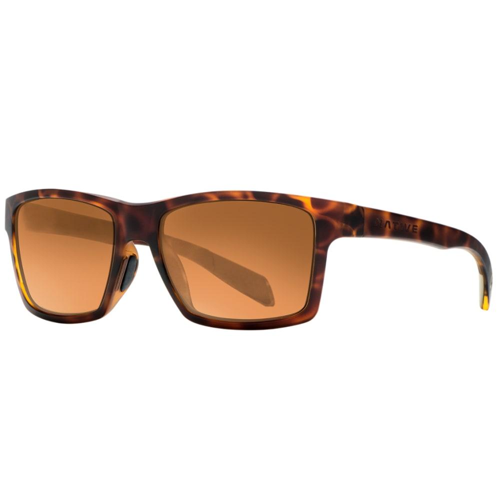 NATIVE EYEWEAR Flatirons Sunglasses, Desert Tortoise, Bronze Lens ONE SIZE