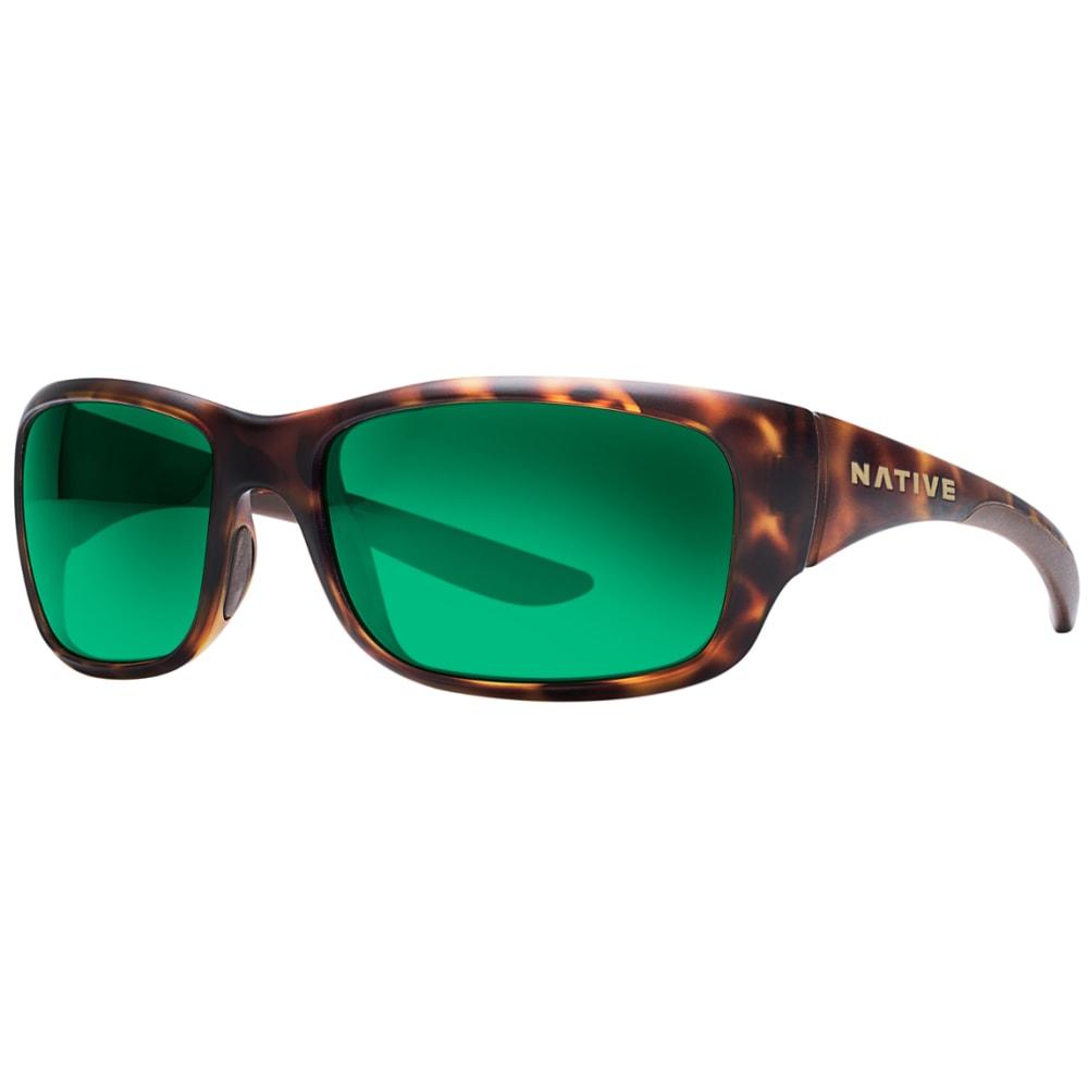 NATIVE EYEWEAR Kannah Sunglasses, Deset Tortoise, Green Reflex lens - Desert Tort
